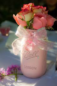 jar baby shower ideas shabby chic pink jar for girl baby shower picmia