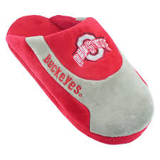 comfy feet ncaa sneaker boot slippers ohio state buckeyes