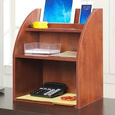 Desk Organizer Shelves Ebern Designs Burke Desktop Organizer With Shelf Reviews Wayfair