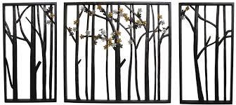 outdoor metal wall flower leaf trees furniture