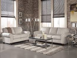 Real Leather Sofa Set by Darby Contemporary Gray Genuine Leather Sofa Couch Set Living Room