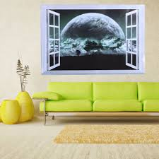compare prices on big stickers window online shopping buy low 50 70cm 3d super big planet living room bedroom wall stickers removable wallpaper 3d window