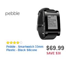 best smart watch deals black friday 69 99 pebble smartwatch 33mm plastic black silicone deal at best