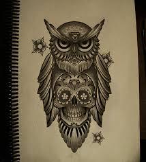 owl skull by frah on deviantart