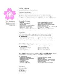 Sample Resume For Graphic Artist by Resume Sample Resume Graphic Design