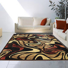 Modern Abstract Area Rugs Olefin Abstract Area Rugs Ebay