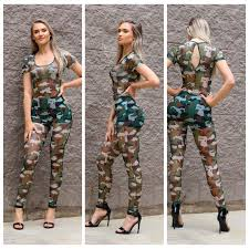camouflage jumpsuit womens digital print jumpsuits rompers sleeve overalls print