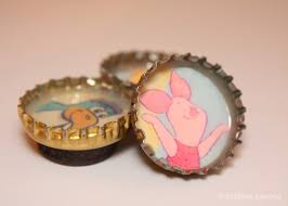 crafted spaces crafty idea bottle cap magnet
