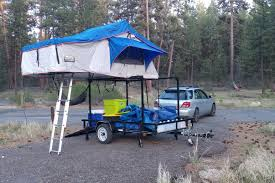 customer alex utility trailer with roof top tent racks