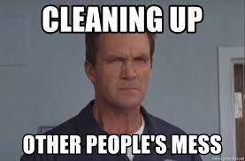 Janitor Meme - cleaning up other people s mess evil eye janitor meme generator