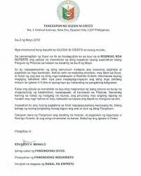 inc spokesman on duterte endorsement letter u0027that u0027s not from