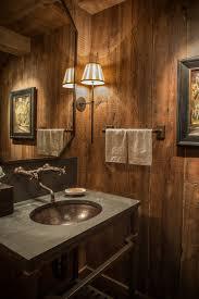 Bathroom Wood Paneling Rustic Wall Treatment Bathroom Rustic With Rustic Wood Paneling