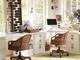 Home Office Desk Chairs Office A Beautiful White Home Office Furniture With Two Wicker