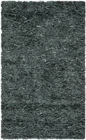 Safavieh Leather Shag Rug Leather Shag Collection Striking Area Rugs Safavieh