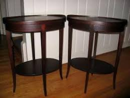Mersman End Table Transport My Antique Pair Mersman Oval End Occasional Wood Tabl To