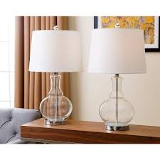 Clear Glass Table Lamp Abbyson Ellis Clear Glass Table Lamp Set Of 2 Free Shipping