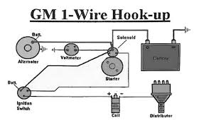 wiring wiring diagram of how to hook up a one wire alternator