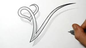 hmongbuy net how to draw the letter v in 3d