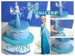 dulcero de frozen en forma de pastel con materiales reciclados diy
