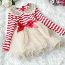girls tutu red dress stripe red ivory dress with golden peter pan