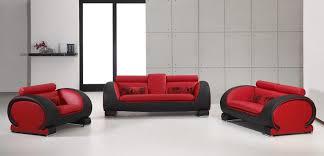 Leather Sofas And Chairs 2811 Red U0026 Black Bonded Leather Sofa Set Nova Interiors