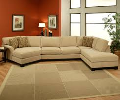 furniture ethan allen sectional sofas in brown with red paint