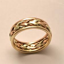 maine wedding bands braided in gold men s large wedding band handmade in