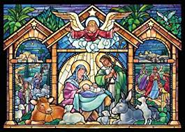 amazon com stained glass nativity religious christmas cards