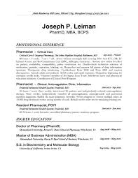 Clinical Pharmacist Resume Health Informatics Resume Resume For Your Job Application