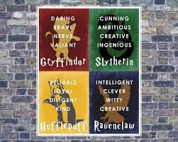 harry potter hogwarts house banner 16x20 digital jpg instant