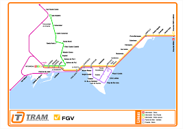 Spain Train Map by Urbanrail Net U003e Europe U003e Spain U003e Alicante Alacant Metro Tram