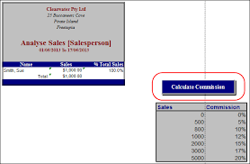 Sales Commission Excel Template Calculating Sales Commission Support Notes Myob Accountright