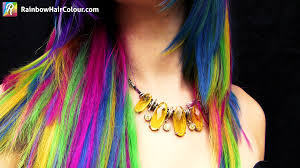 Color Hair Extension by Unicorn U0027s Mane Hand Dyed Rainbow Hair Extensions Rainbow Hair