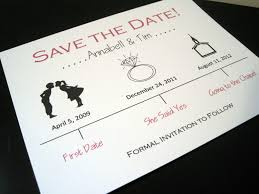 Wedding Save The Dates Fabulous Save The Date Wedding Invitations Card With Plain White