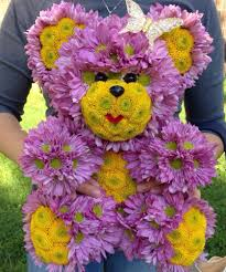 harvest thanksgiving floral teddy bear from blooming bears available in new york