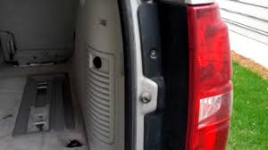 2009 silverado tail lights how to remove replace tail light bulb in chevy tahoe 2007 2008 2009