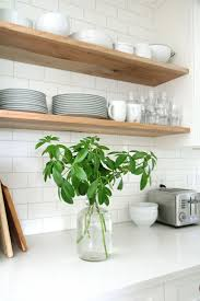 dress your kitchen in style with some white subway tiles charming kitchen with floating shelves and subway tiles