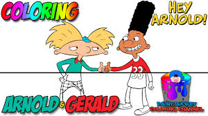 hey arnold arnold and gerald coloring pages nickelodeon nick jr