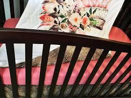Crib Bedding Calgary Coral Headdress And Deer Hide Bedding Set 3 Crib Bedding