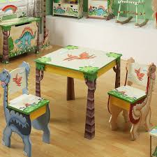 kids wooden table and chairs set childrens wooden table and chair set 18 teamson dinosuar for
