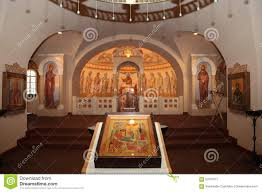 russian interior design interior altar icons frescoes baptismal font in the old