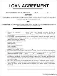 general loan agreement template example for individual to