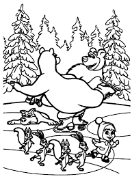 masha bear riding bike bear coloring pages masha