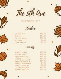 customize 40 thanksgiving menu templates canva