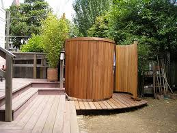 wooden outdoor shower enclosures outdoor showers outside showers