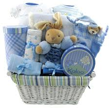 baby basket gift baby boy blue kaloo baby boys gift basket deluxe edition