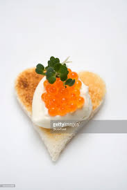 canap toast canap sour and keta caviar on toast stock photo getty images