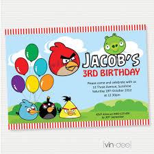 angry birds birthday invitation diy printable