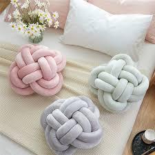 coussin chambre fille ins de mode noeud balle coussin oreiller bébé apaiser jouet doux