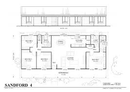 Simple 4 Bedroom Floor Plans Sanford 4 Met Kit Homes 4 House Floor Plan Kits